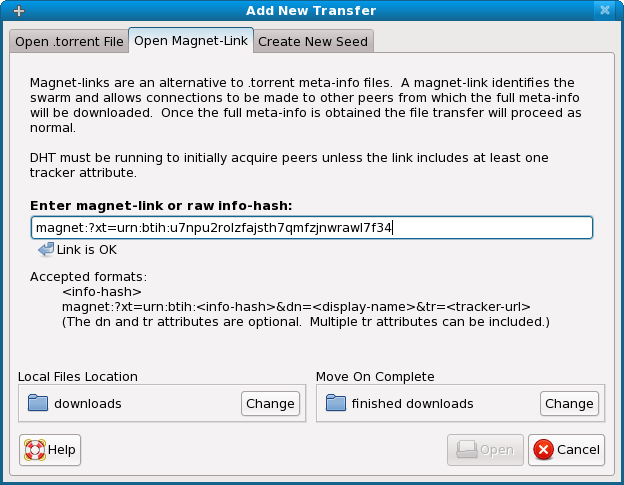 where are magnet torrent files stored